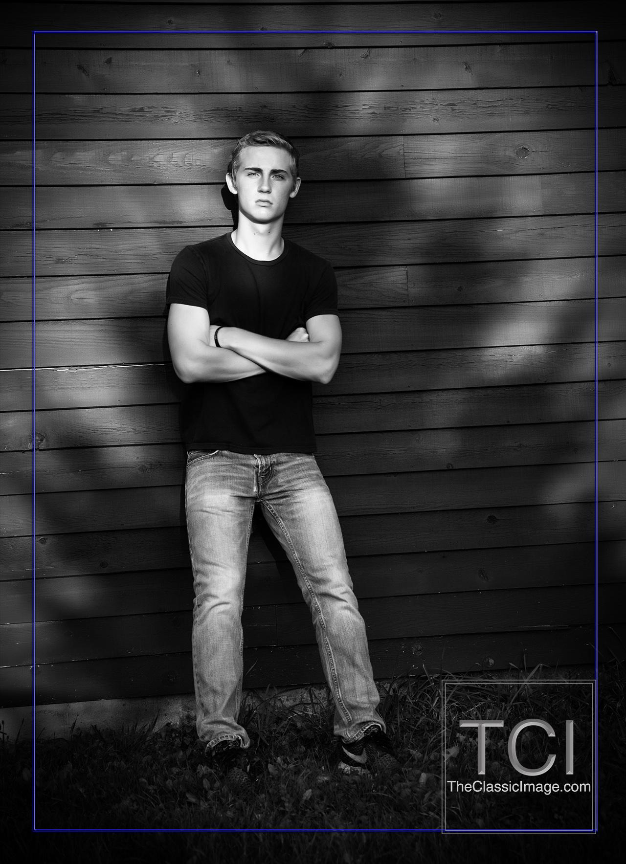 Art portrait outdoor senior boy